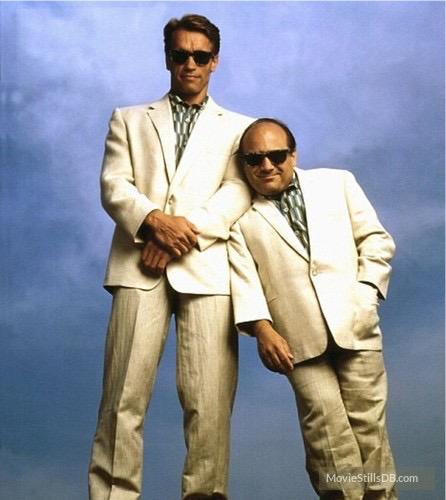 Arnold Schwarzenegger & Danny Devito in the movie Twins